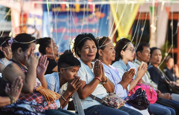 People celebrate traditional Thai New Year