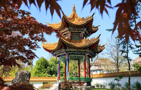 Scenery of Zurich Chinese Garden in Switzerland