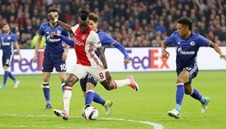 Ajax beat Schalke in first leg of Europa League quarter-final