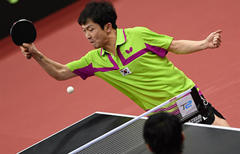 S. Korea advances to men's singles semifinal at ITTF Asian Table Tennis championships