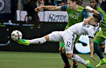 Vancouver Whitecaps beats Seattle Sounders 2-1 during MLS match