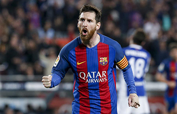 Barcelona beats Real Sociedad 3-2 at Spanish first division soccer match