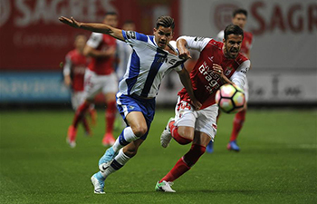 SC Braga draws with FC Porto 1-1 at 2016/2017 Portuguese Liga match