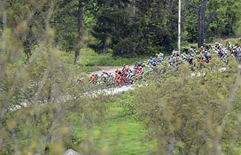Cyclists compete in 1st stage of Int'l cycling race tour of Croatia