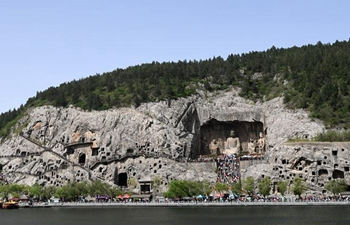 Longmen Grottoes in China's Henan enters into tourist rush season
