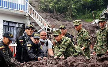 Landslide hits Manizales, Colombia