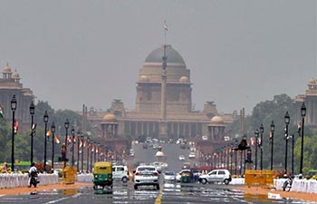 Mirage appears in New Delhi under heat wave