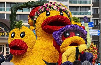 Bulbflower Parade 2017 marked in Noordwijk, Netherlands