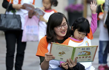 People across China enjoy reading on World Book Day