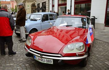 Classic car show held in Ljubljana, Slovenia