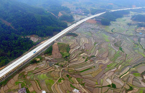 Rural scenery of terraced fields across China