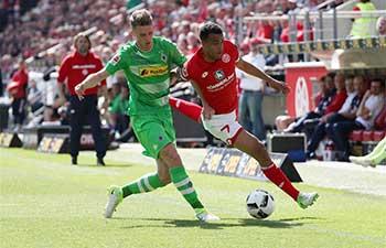 Borussia Moenchengladbach lose 1. FSV Mainz 05 1-2 in Bundesliga match