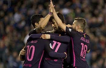 FC Barcelona beat RCD Espanyol 3-0 in La Liga