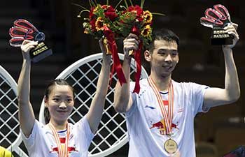 China claims title of mixed doubles at Badminton Asia Championships Championships