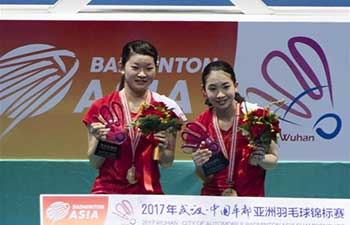 Japan clinches gold of women's doubles at Badminton Asia Championships