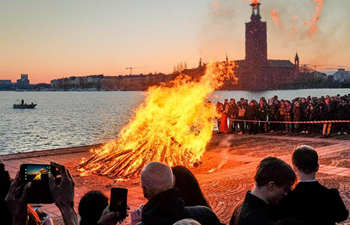 Swedes celebrate Valborg in Stockholm