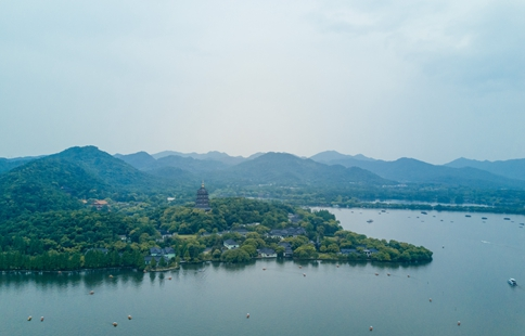 Scenery of West Lake in China's Hangzhou