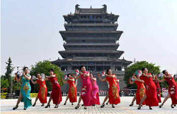 Cheongsam show held in north China's Shanxi