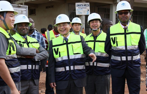 Chinese company starts road upgrading in Rwandan capital