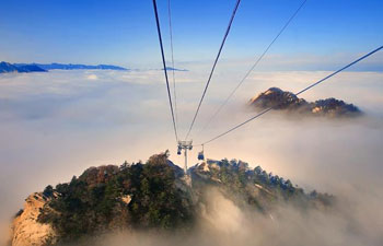 Scenery of China's Huashan Mountain