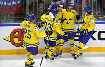 Russia beats Sweden 2-1 at Ice Hockey World Championship Preliminary Round