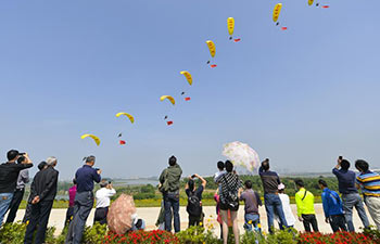 Aero sports competition held in central China