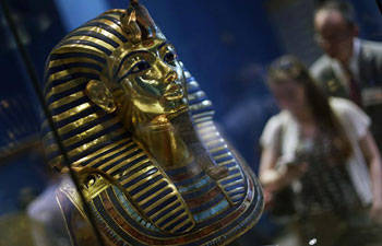 Golden mask of King Tutankhamun seen at museum in Cairo