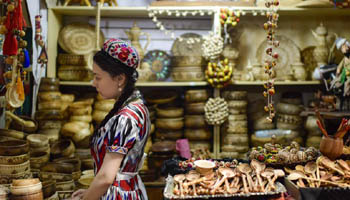Xinjiang Int'l Grand Bazaar held in Urumqi, NW China