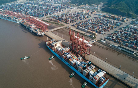 In pics: container terminal of Zhoushan Port in China's Ningbo