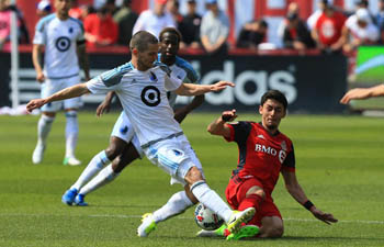 Toronto FC defeats Minnesota United FC in MLS match in Toronto, Canada