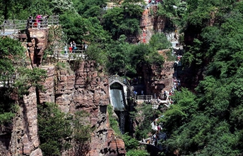 Miraculous road at Guoliang cliff corridor in China's Henan