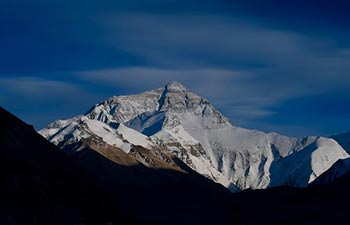 Scenery of Mt. Qomolangma on border of China, Nepal