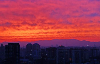 In pics: sunset glow in Beijing