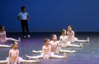 Students show ballet skills during joint performance in Beijing