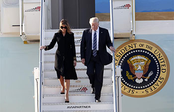 Trump arrives Rome for meeting leaders of Italy, Vatican