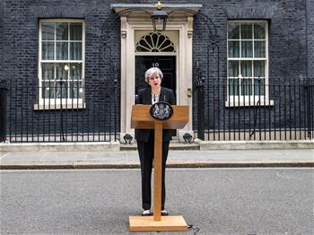 British PM addresses media following Manchester terror attack