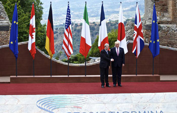 G7 summit kicks off with ceremony at Taormina's ancient Greek theatre
