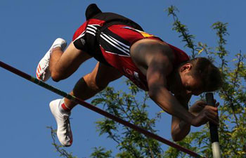 Athletes compete at 5th Athens Street Pole Vault