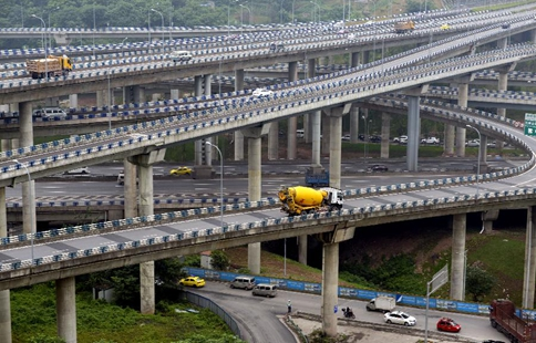 In pics: five-level Huangjuewan overpass in SW China's Chongqing