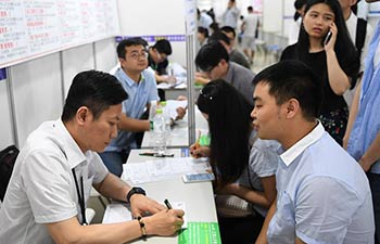 Job seekers consult at job fair in SW China
