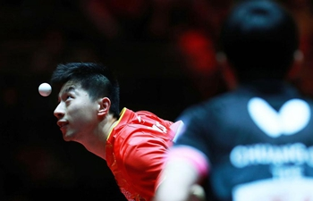 Ma Long wins Chuang Chih-Yuan 4-0 at men's singles match in Dusseldorf