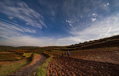 Scenery of Dongchuan Red Land in SW China's Yunnan