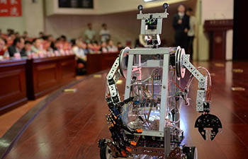 Robot contest held at Xi'an Jiaotong University