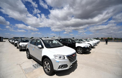 SUVs exported to Russia through China-Europe rail freight line