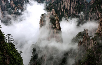 In pics: cloud-shrouded Huangshan Mountain