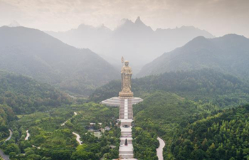 Aerial photos of Mount Jiuhua in China's Anhui