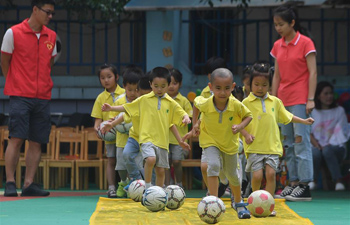 Football festival held at kindergarten in east China's Zhejiang