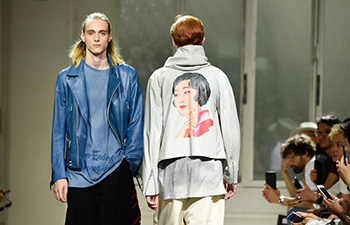 Designs of Yohji Yamamoto staged at Paris Men's Fashion Week