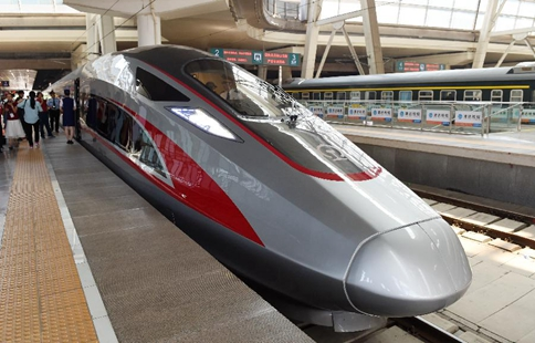 Two China-standard new high-speed trains start operation