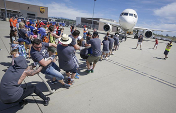 Plane Pull fundraising campaign held in Vancouver, Canada